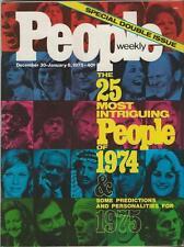 People Weekly Magazine January 5 1975 People of '74 John Glenn Gerald Ford