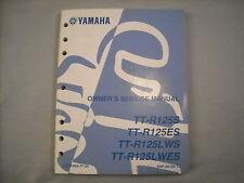 Yamaha OEM Factory Service Manual 2004 TT-R125 TT-R125E TT-R125LW TT-R125LWE