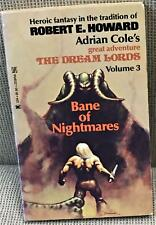 Adrian Cole / BANE OF NIGHTMARES First Edition 1976