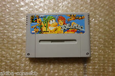 "Joe & Mac ""No Box/No Manual"" Nintendo Super Famicom SNES Japan"