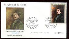 Niger - Enveloppe FDC 1967 - Oeuvre de Delacroix - O 294