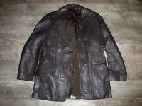 Vintage London Made Leather Jacket Car Coat Jacket Starsky Hutch Fight Club 38 M