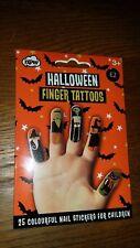 Halloween Kids Finger Tattoos-25 nail stickers- FREE P&P