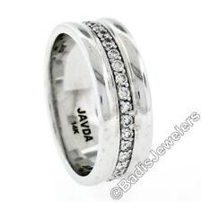 Anillos de joyería con diamantes brillantes de oro blanco de boda