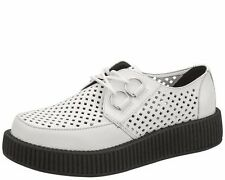 T.U.K. White Perforated Viva Creepers - WOMEN'S SIZE 7
