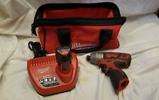"Milwaukee M12 1/4"" hex impact driver battery charger bag XTD"