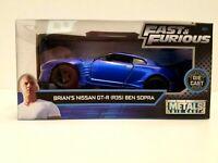 Jada Toys METALS DIE CAST Fast & Furious Brians Nissan GT_R R35 1:32 SHIPS FREE!