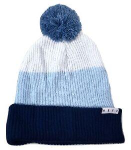 NEFF Mens & Womens Grey/Light Blue/Navy Snappy Beanie Knit Hat NWT NF00019