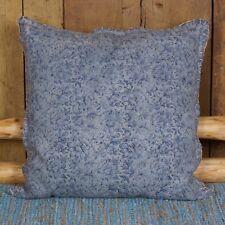 1x Kissen incl. Inlett 60 x 60 cm gewebt Blumen Blau auch als Bodenkissen