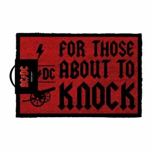 AC/DC For Those About to Knock Doormat Welcome Entrance Mat