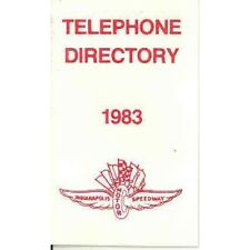 1983 Indianapolis 500 Telephone Directory wc7634-EVC788