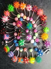 4x belly koosh ball bars, belly bar , koosh balls, choice of colours