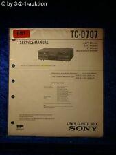 Sony Service Manual TC D707 Cassette Deck (#0881)