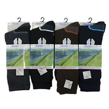 S40 MENS 4prs CUSHIONED FOOT WOOL BLEND THERMAL RAMBLING BOOT HIKING SOCKS 6-11