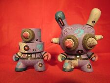 "Kidrobot 3"" Custom Dunny & Fat Cap By mike die Rare One of a kind 2013"