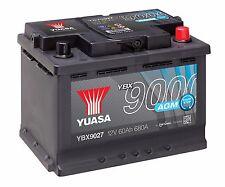Yuasa YBX9027 12V AGM Stop Start Plus 027 Type Car Battery 60Ah 680A