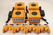 Nintendo GameCube Spice Orange Gc Console Bundle Play Us Canada Region Games