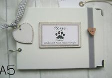 format A5 PHOTO ALBUM//Album//livre de souvenirs. Personalised Pet chien//chat//lapin..