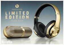 Extremely RARE Beats by Dre Wireless GOLD Studio2 Headphones + Beats Pill *BNIB*