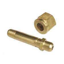 "62/69 CGA-540 Nut & 3"" Nipple, Regulator Inlet Bottle/Cylinder Fittings (Oxygen"