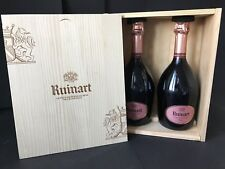 2x Ruinart Champagne Rose Champagner Flasche 0,75l 12,5% Vol Inkl Holzkiste OHK