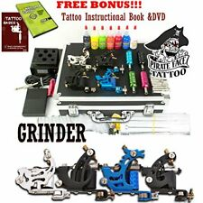Complete Grinder Tattoo Kit and Accessories - Includes Intructional Book & DVD