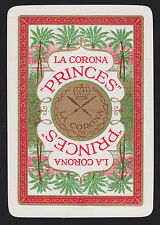 1 Single VINTAGE Playing/Swap Card OLD WIDE ADV LA CORONA PRINCES CIGARS TOBACCO