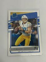 JUSTIN HERBERT 2020 DONRUSS RATED ROOKIE #303 Los Angeles Chargers