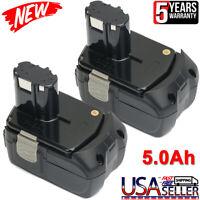 2X For Hitachi 18v Li-ion Battery EBM1830 5.0Ah EBM1815 BCL1840 BCL1830 BCL1815