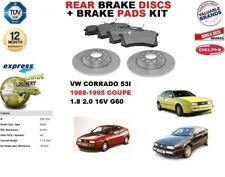 per VW VOLKSWAGEN CORRADO 1.8 2.0 16V G60 COUPE SET DISCHI FRENI POSTERIORI+