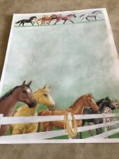 Galloping Horses Stationery Set, with 15 sheets and 15 envelopes. Buy 1 or More.