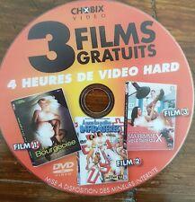 DVD POUR ADULTES : 1 DVD avec 3 films différents. 4 heures de video