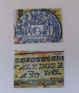 PERU 2008  San Martin Money  Coin Banknote MNH set Unused stamps
