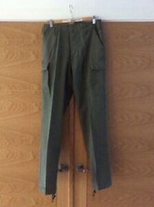 "Khaki cotton utility/walking trousers size 36"" waist 32"" leg adjustable hem New"