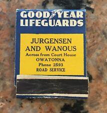 1950S Goodyear Tire Life Guard Match Com
