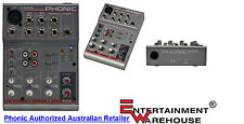 Phonic AM55 1-Mic/Line 2-Stereo Compact Mixer
