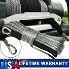 """1/4"""" x 50' Synthetic Winch Rope Line Recovery Cable 10000LB 4WD SUV Pickup Gray"""