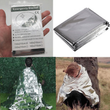 "Emergency BLANKET Thermal Survival Safety Solar Insulating Mylar Heat 84"" X 52"""