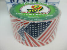 USA UNITED STATES FLAG DUCK BRAND DUCT TAPE 1.88 BY 10 YARDS SINGLE ROLL