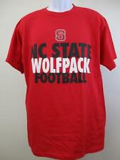 New North Carolina NC State Wolfpack Adult Mens Size L Large Red Football Shirt