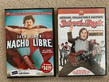 Nacho Libre School of Rock Jack Black Comedy Movies 2 Dvd lot Special Edition Pg