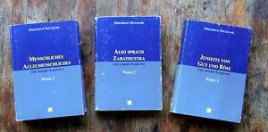 Nietzsche Werke in 3 Bänden - Könemann