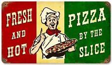 Vintage Pizza Slice Metal Sign Restaurant Diner Cafe Shop Kitchen Wall Decor PTS