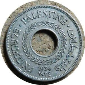 elf Palestine British 5 Mils 1934