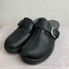Crocs Cobbler Buckle Womens Clogs Black Mule Slip On Shoes Sandals Size 9 W
