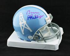 Coach Bum Phillips SIGNED Houston Oilers Mini Helmet Luv Ya PSA/DNA AUTOGRAPHED