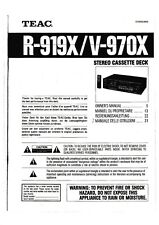 Operating Instructions For Teac R-919X, V-970X