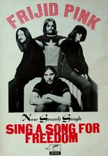 FRIJID PINK 1970 original POSTER ADVERT SING A SONG FOR FREEDOM