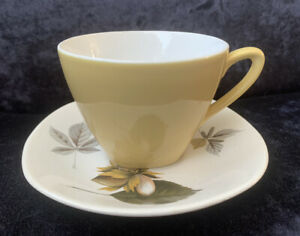 """Midwinter Stylecraft Fashion Shape """"Nuts In May"""" Small Size Coffee Cup & Saucer"""