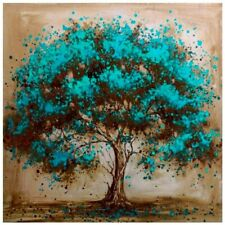 Diy 5D Blue Tree Diamond Painting Full Drill Embroidery Kits Arts Decors Gifts